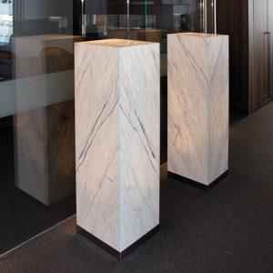 backlit marble